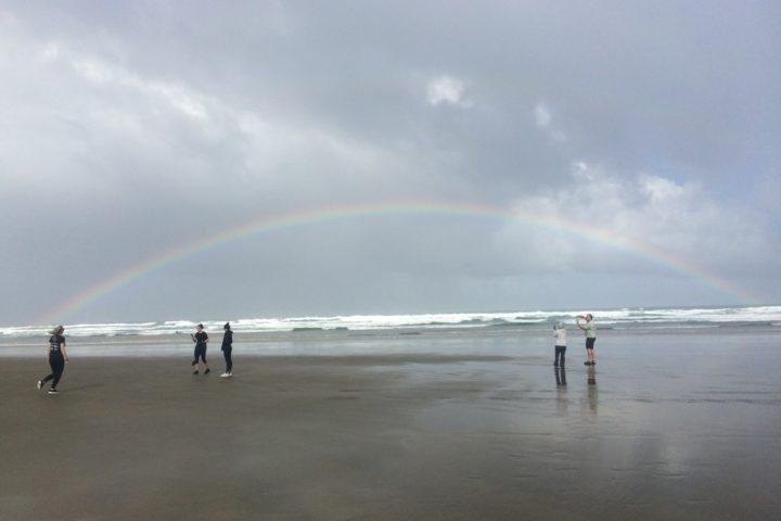 Rainbow at 90-Mile Beach